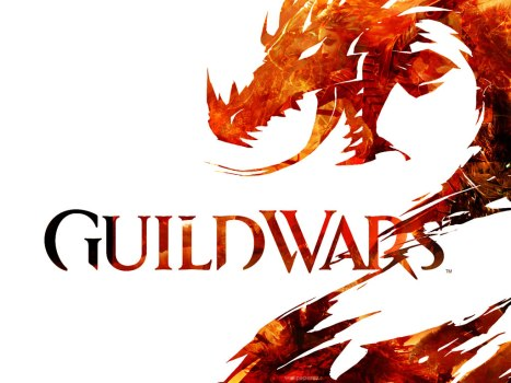 El muy estilizado logo de Guild Wars 2